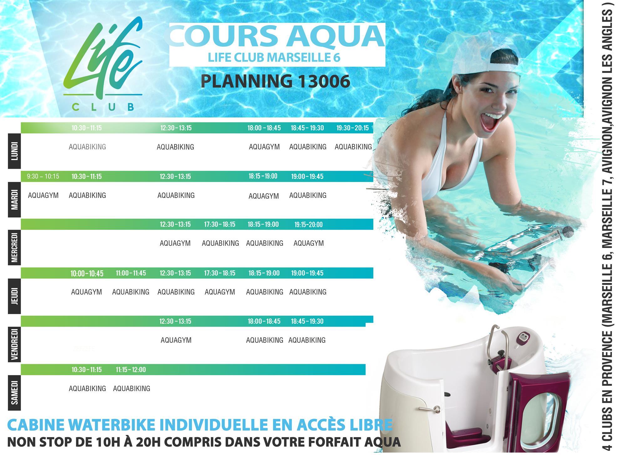 Cliquez sur le planning pour agrandir piscine aquabike 13006