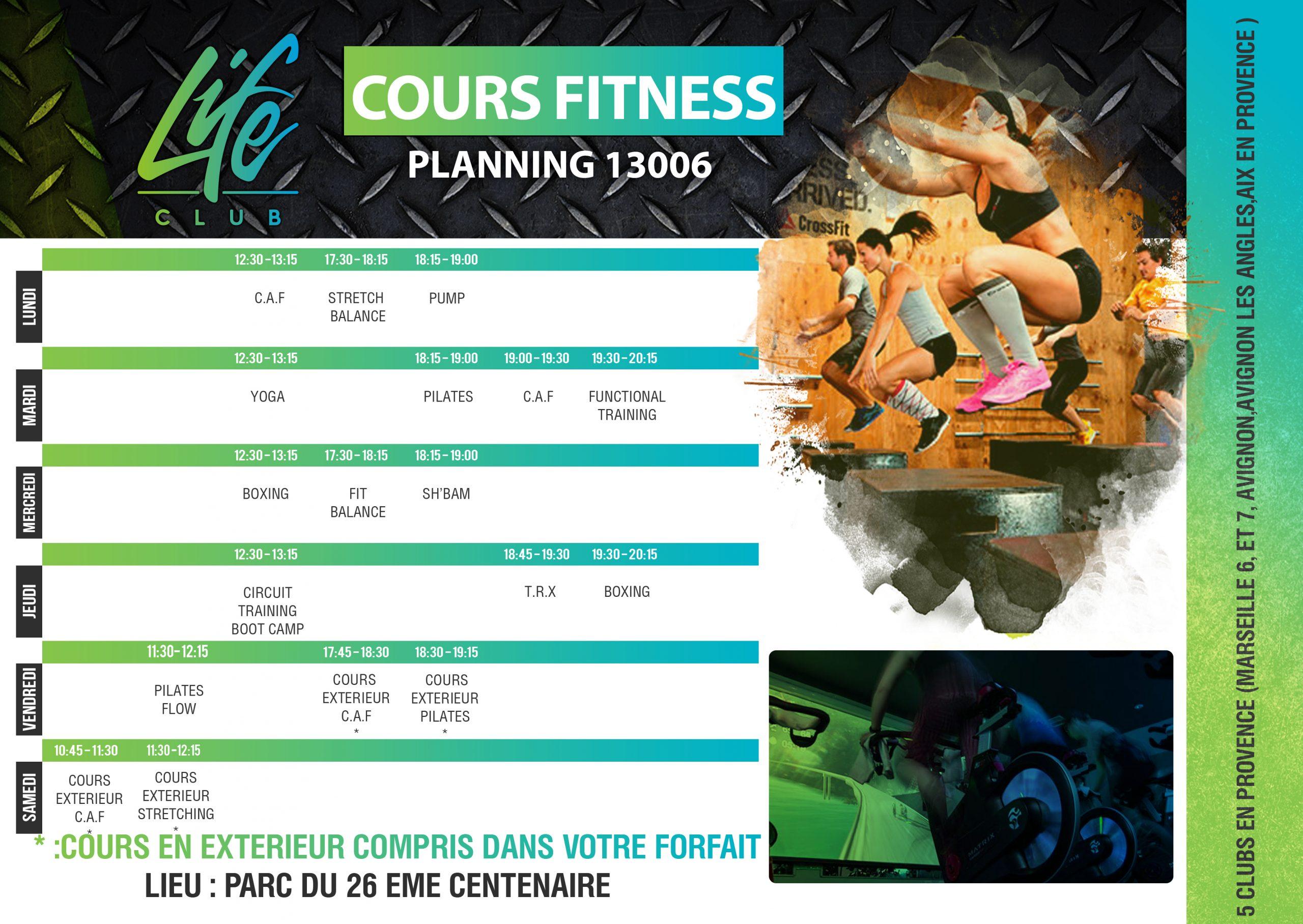 Planning fitness à marseille