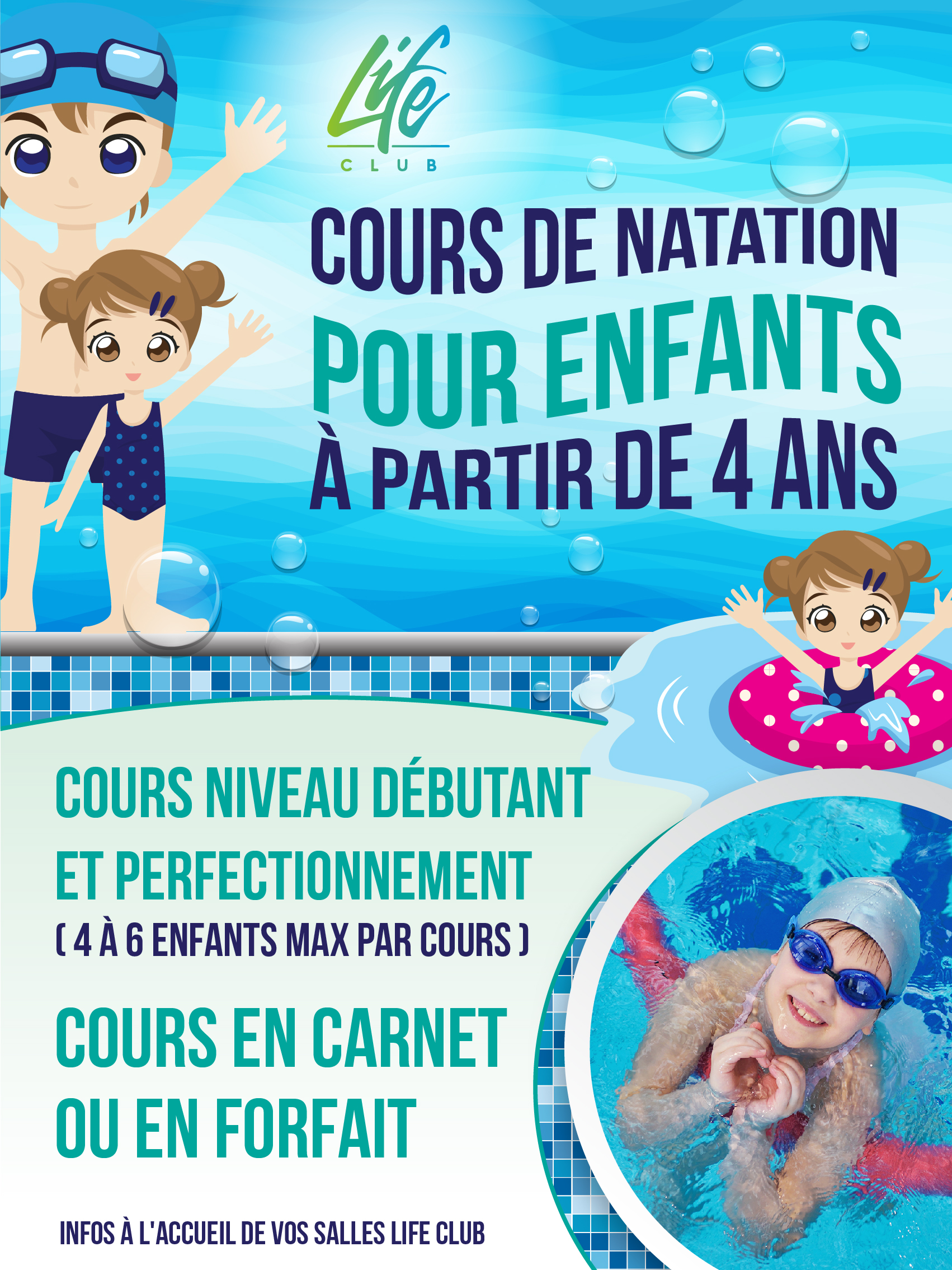Cours de natation enfants à marseille